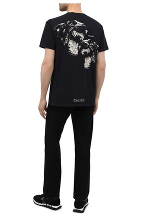 Мужская хлопковая футболка RELIGION черного цвета, арт. 11BGWN96   Фото 2