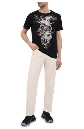 Мужская хлопковая футболка RELIGION черного цвета, арт. 11BSGN03 | Фото 2