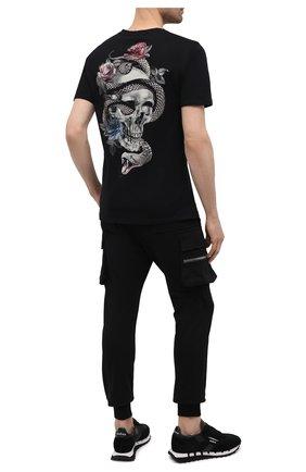 Мужская хлопковая футболка RELIGION черного цвета, арт. 11BSSN03 | Фото 2