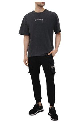 Мужская хлопковая футболка RELIGION серого цвета, арт. 11TS0N23   Фото 2