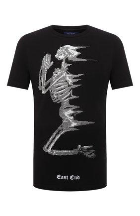 Мужская хлопковая футболка RELIGION черно-белого цвета, арт. 11TWDN03 | Фото 1