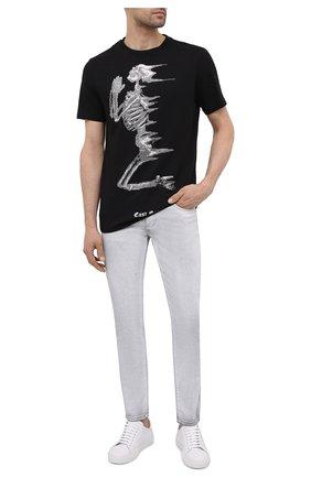 Мужская хлопковая футболка RELIGION черно-белого цвета, арт. 11TWDN03 | Фото 2