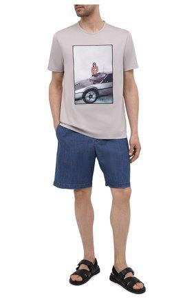 Мужские джинсовые шорты PT TORINO голубого цвета, арт. 211-CB BLW7Z20CL1/TU33C | Фото 2