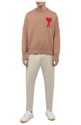 Мужские хлопковые брюки AMBUSH бежевого цвета, арт. BMCA022S21FAB001 | Фото 2