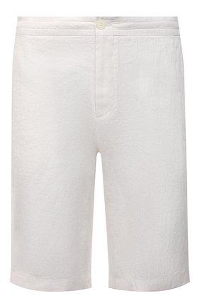 Мужские льняные шорты ERMENEGILDO ZEGNA белого цвета, арт. UUI32/TB11 | Фото 1