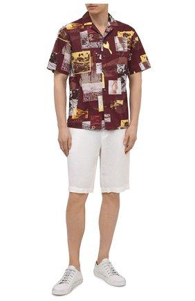 Мужские льняные шорты ERMENEGILDO ZEGNA белого цвета, арт. UUI32/TB11 | Фото 2
