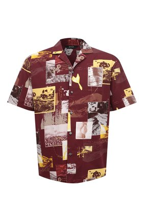Мужская хлопковая рубашка Z ZEGNA разноцветного цвета, арт. 905022/ZC0B2 | Фото 1 (Длина (для топов): Стандартные; Рукава: Короткие; Материал внешний: Хлопок; Случай: Повседневный; Стили: Кэжуэл; Принт: С принтом; Воротник: Отложной)
