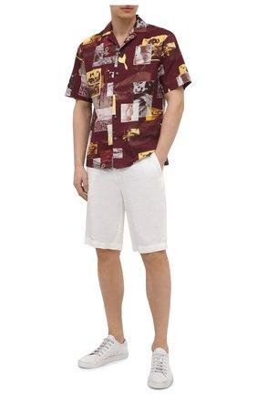 Мужская хлопковая рубашка Z ZEGNA разноцветного цвета, арт. 905022/ZC0B2 | Фото 2 (Длина (для топов): Стандартные; Рукава: Короткие; Материал внешний: Хлопок; Случай: Повседневный; Стили: Кэжуэл; Принт: С принтом; Воротник: Отложной)