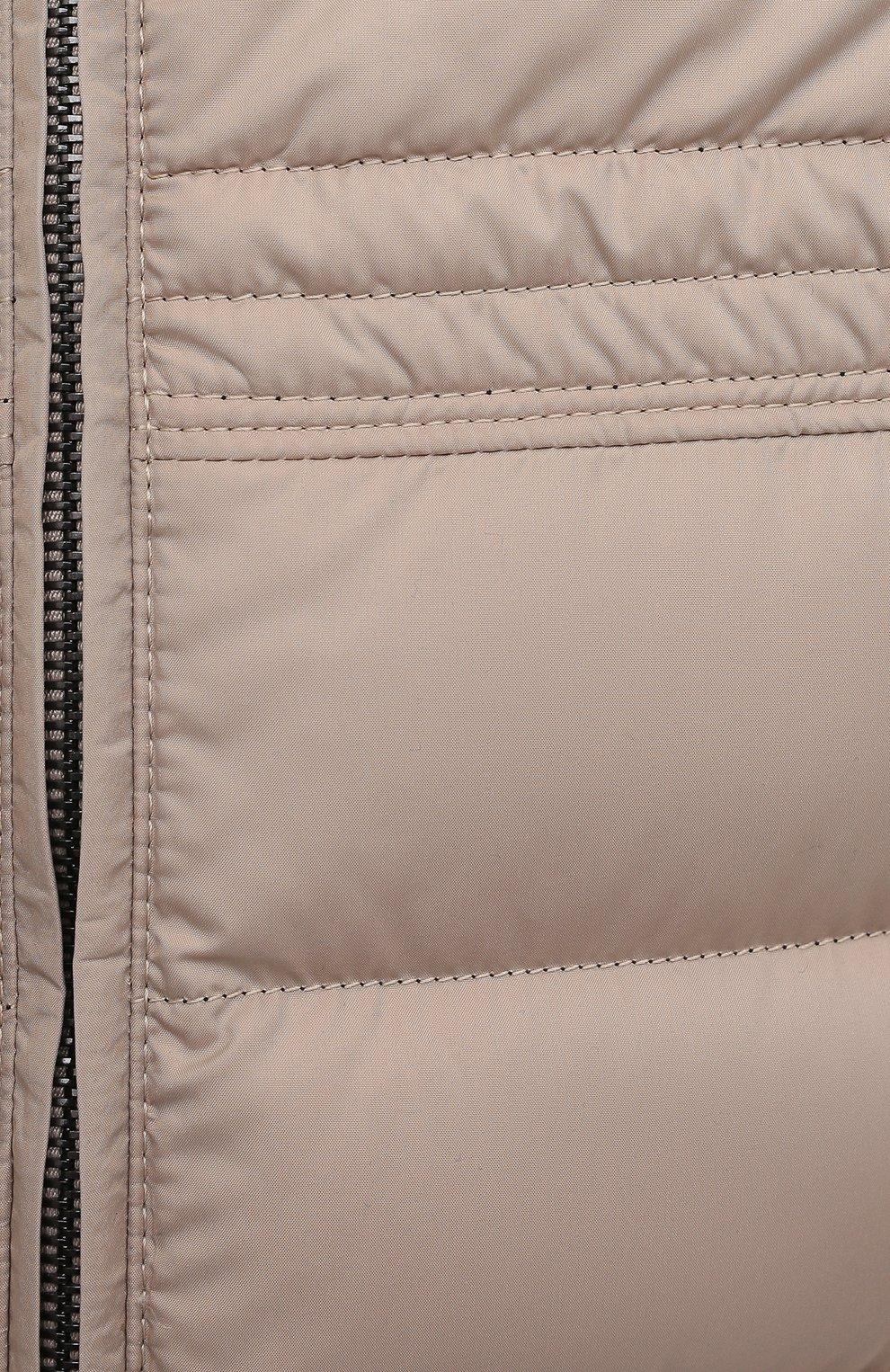 Мужской пуховый жилет BRIONI бежевого цвета, арт. SWLI0L/P0908 | Фото 5