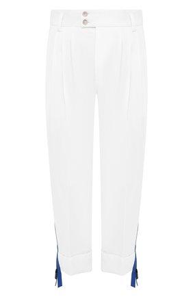 Мужские хлопковые брюки DOLCE & GABBANA белого цвета, арт. GWHXAZ/FUFJU | Фото 1