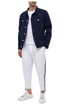 Мужские хлопковые брюки DOLCE & GABBANA белого цвета, арт. GWHXAZ/FUFJU | Фото 2
