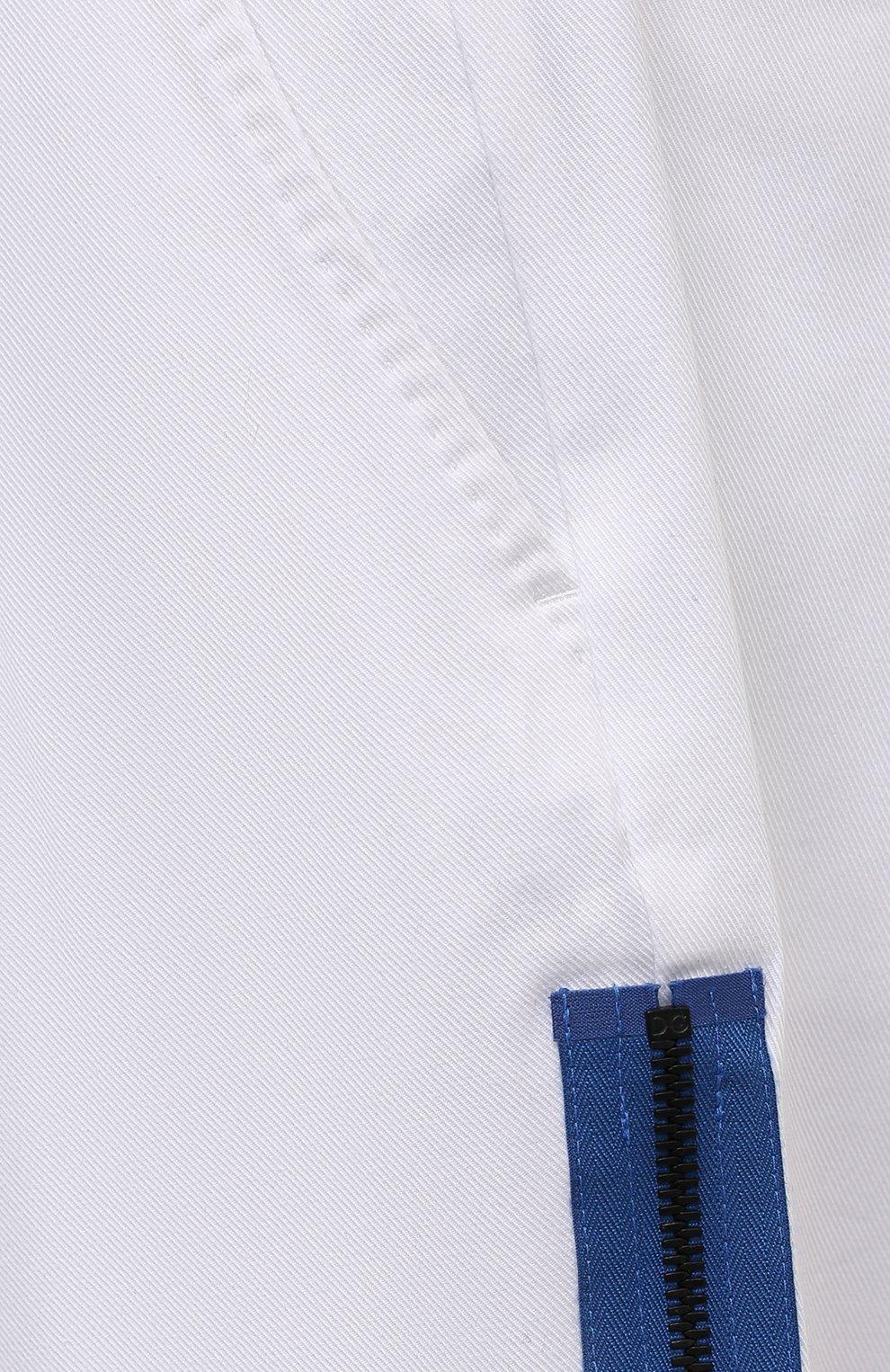 Мужские хлопковые брюки DOLCE & GABBANA белого цвета, арт. GWHXAZ/FUFJU | Фото 5