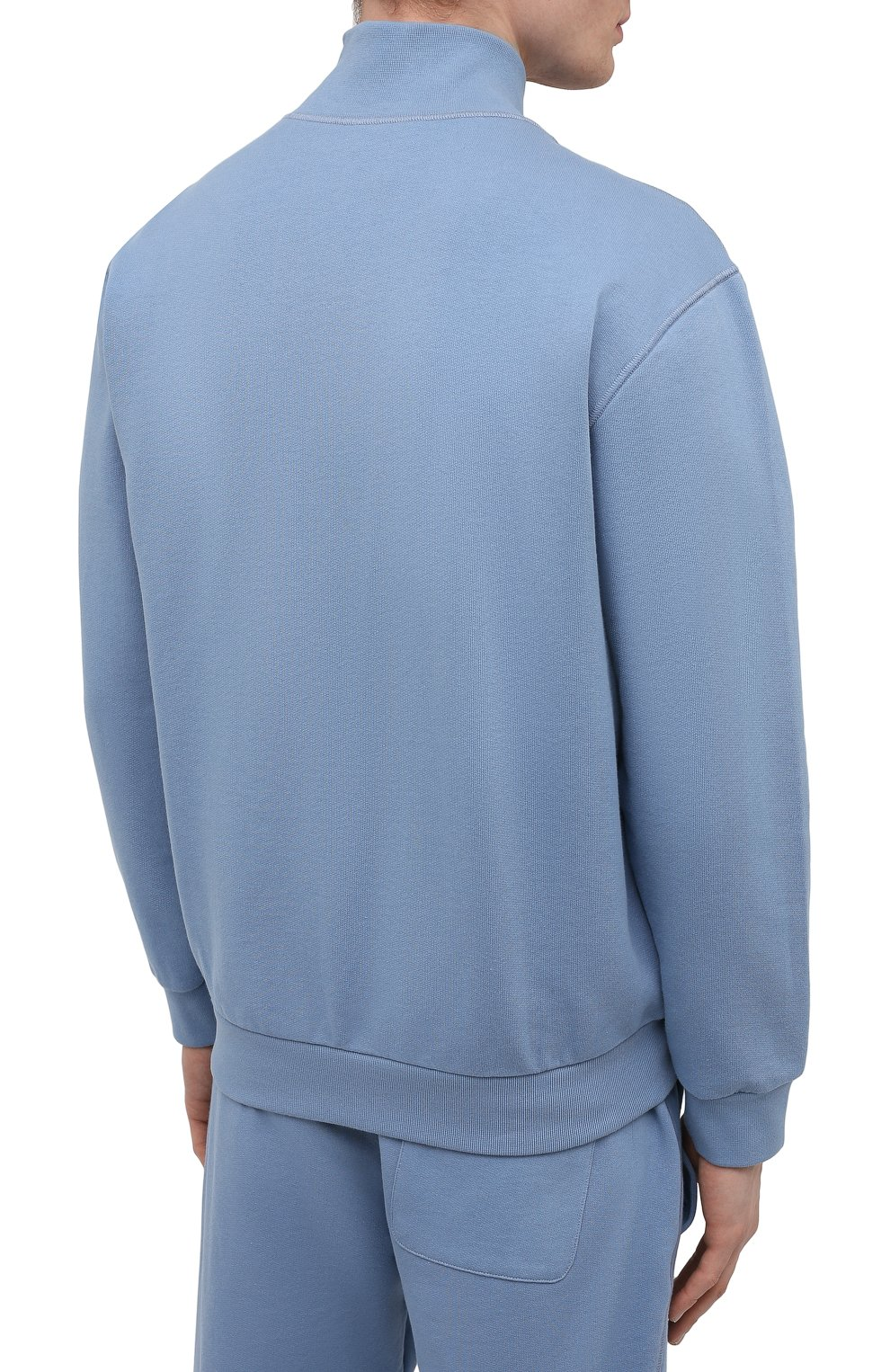 Мужской хлопковая толстовка BRIONI голубого цвета, арт. UJDI0L/P0650 | Фото 4