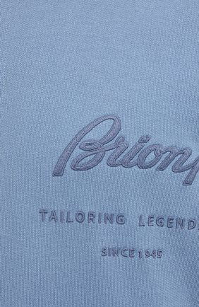 Мужской хлопковая толстовка BRIONI голубого цвета, арт. UJDI0L/P0650 | Фото 5