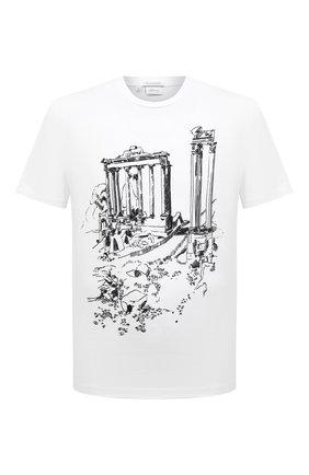 Мужская хлопковая футболка BRIONI белого цвета, арт. UJCH0L/P0643 | Фото 1