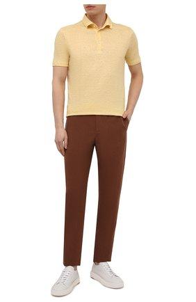 Мужское льняное поло LORO PIANA желтого цвета, арт. FAI1314 | Фото 2