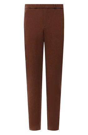 Мужские льняные брюки LORO PIANA коричневого цвета, арт. FAL6164   Фото 1