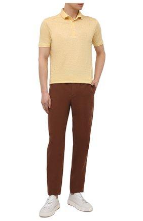 Мужские льняные брюки LORO PIANA коричневого цвета, арт. FAL6164   Фото 2 (Материал внешний: Лен; Длина (брюки, джинсы): Стандартные; Случай: Повседневный; Стили: Кэжуэл)