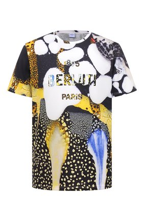 Мужская хлопковая футболка BERLUTI разноцветного цвета, арт. R19JRS57-001   Фото 1 (Материал внешний: Хлопок; Длина (для топов): Стандартные; Рукава: Короткие; Принт: С принтом; Стили: Кэжуэл)