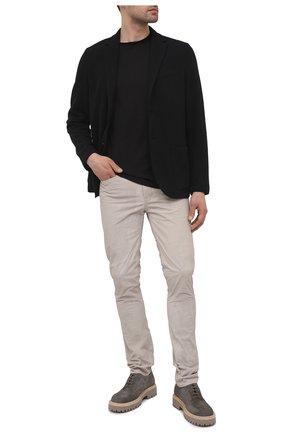 Мужские замшевые дерби VIC MATIE серого цвета, арт. 1Z5933U.Y02Z010628 | Фото 2 (Материал внутренний: Натуральная кожа; Стили: Классический; Материал внешний: Замша)