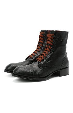 Мужские кожаные ботинки ROCCO P. черного цвета, арт. 12030/UNIVERSAL   Фото 1