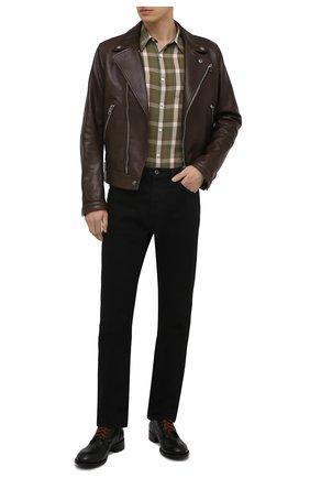 Мужские кожаные ботинки ROCCO P. черного цвета, арт. 12030/UNIVERSAL   Фото 2