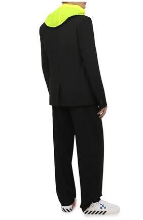 Мужские кожаные кеды vulcanized OFF-WHITE белого цвета, арт. 0MIA085S21LEA0010145 | Фото 2 (Материал внутренний: Текстиль, Натуральная кожа; Подошва: Плоская)