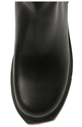 Мужские кожаные сапоги OFF-WHITE черного цвета, арт. 0MID004S21LEA0011010 | Фото 5