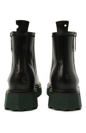 Мужские кожаные сапоги OFF-WHITE черного цвета, арт. 0MID004S21LEA0011010 | Фото 6