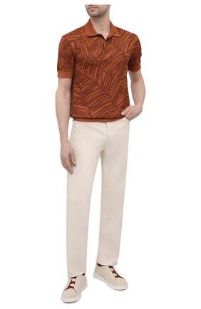 Мужские текстильные кеды triple stitch ZEGNA COUTURE бежевого цвета, арт. A4841X-LHBAS   Фото 2