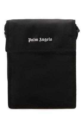 Мужская текстильная сумка PALM ANGELS черного цвета, арт. PMNN001S21FAB0031001 | Фото 1
