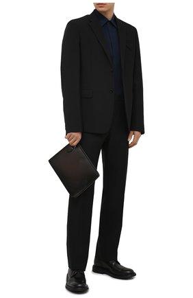 Мужская кожаная папка для документов BERLUTI темно-коричневого цвета, арт. M214762   Фото 2 (Материал: Натуральная кожа)
