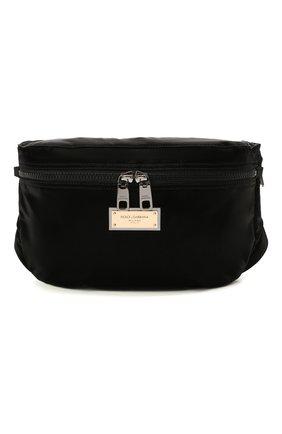 Мужская текстильная поясная сумка sicilia dna DOLCE & GABBANA черного цвета, арт. BM1956/A0243 | Фото 1
