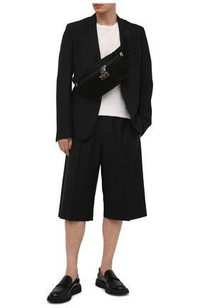 Мужская текстильная поясная сумка sicilia dna DOLCE & GABBANA черного цвета, арт. BM1956/A0243 | Фото 2