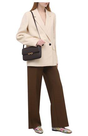 Женские текстильные лоферы GUCCI разноцветного цвета, арт. 647611/2L350 | Фото 2 (Материал внутренний: Натуральная кожа; Подошва: Плоская; Каблук высота: Низкий; Материал внешний: Текстиль)