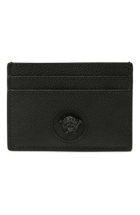 Женский кожаный футляр для кредитных карт la medusa VERSACE черного цвета, арт. DP3I057/DVIT2T | Фото 1