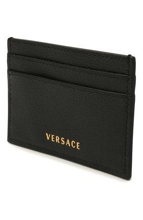 Женский кожаный футляр для кредитных карт la medusa VERSACE черного цвета, арт. DP3I057/DVIT2T | Фото 2