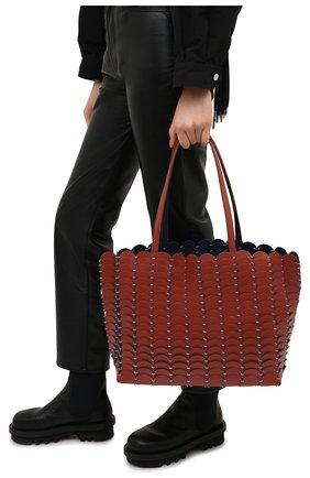 Женский сумка-шопер PACO RABANNE коричневого цвета, арт. 20ASS0198CLF037 | Фото 2