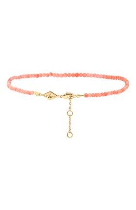 Женский браслет на ногу wave anklet ANNI LU розового цвета, арт. 191-50-45 | Фото 2