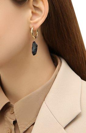 Женские серьги diamonds and pearls ANNI LU черного цвета, арт. 192-30-34 | Фото 2 (Материал: Металл)