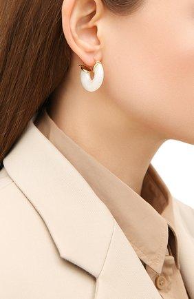 Женские серьги white swell ANNI LU белого цвета, арт. 202-30-45   Фото 2