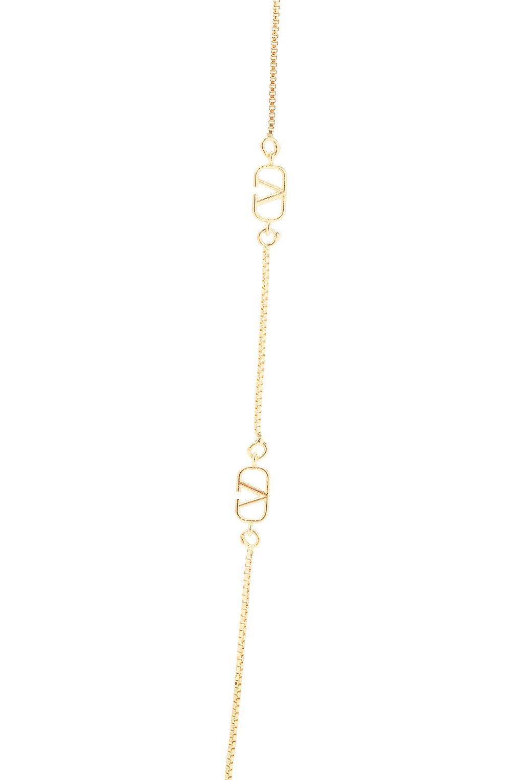 Женское колье valentino garavani VALENTINO золотого цвета, арт. VW2J0H35/MET | Фото 2