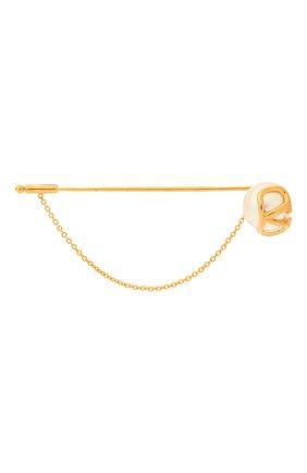 Женская брошь  VALENTINO золотого цвета, арт. VW2J0H28/UXM | Фото 1 (Материал: Металл)