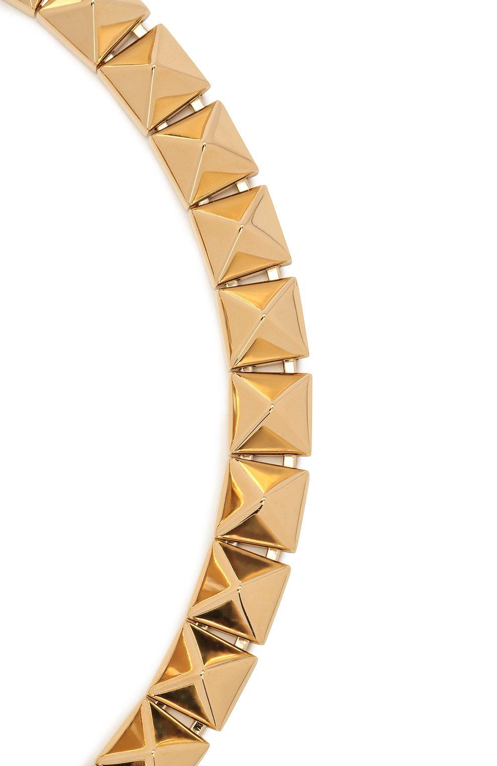 Женское колье valentino garavani VALENTINO золотого цвета, арт. VW2J0H46/MET   Фото 2
