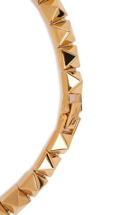 Женское колье valentino garavani VALENTINO золотого цвета, арт. VW2J0H46/MET   Фото 3