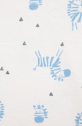 Детское хлопковое боди SANETTA белого цвета, арт. 323084   Фото 3