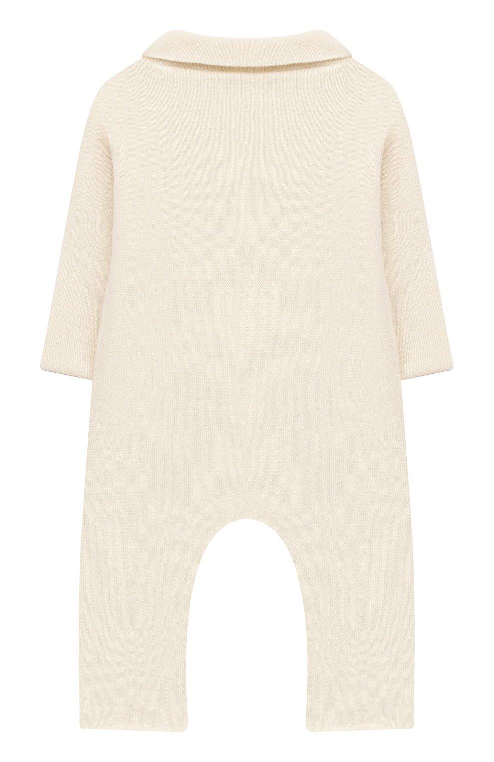 Детский кашемировый комбинезон WOOL&COTTON бежевого цвета, арт. KMLBR   Фото 2