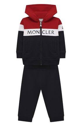 Детский комплект из толстовки и брюк MONCLER темно-синего цвета, арт. G1-951-8M745-20-809AC | Фото 1