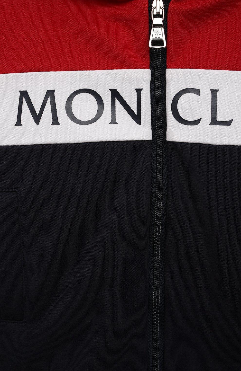 Детский комплект из толстовки и брюк MONCLER темно-синего цвета, арт. G1-951-8M745-20-809AC | Фото 6