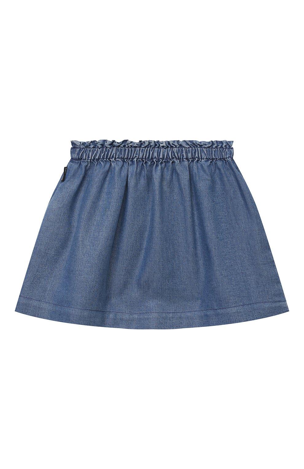 Детская юбка MOSCHINO синего цвета, арт. MDJ00Z/L0E05   Фото 2